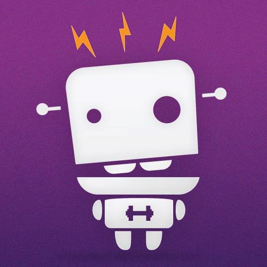Fitocracy Robot Purple